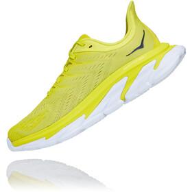 Hoka One One Clifton Edge Running Shoes Men, citrus/white